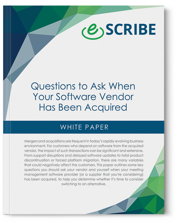 Questions to ask when software vendor acquired white paper cover